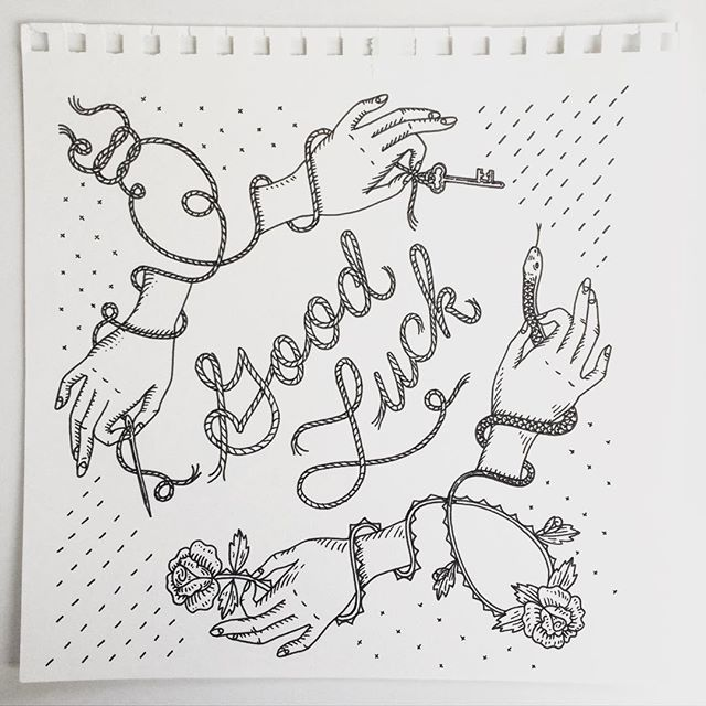 WEBSTA @ jenmussari - Good luck charms for a bandana design for @apprvl. I will…