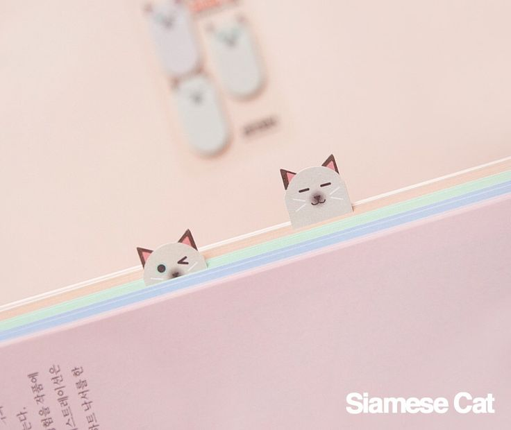 Sticky Note [ Siamese Cat ] / Bookmark / Note pad / Memo pad / Index sticky note by DubuDumo on Etsy https://www.etsy.com/listing/258970186/sticky-note-siamese-cat-bookmark-note