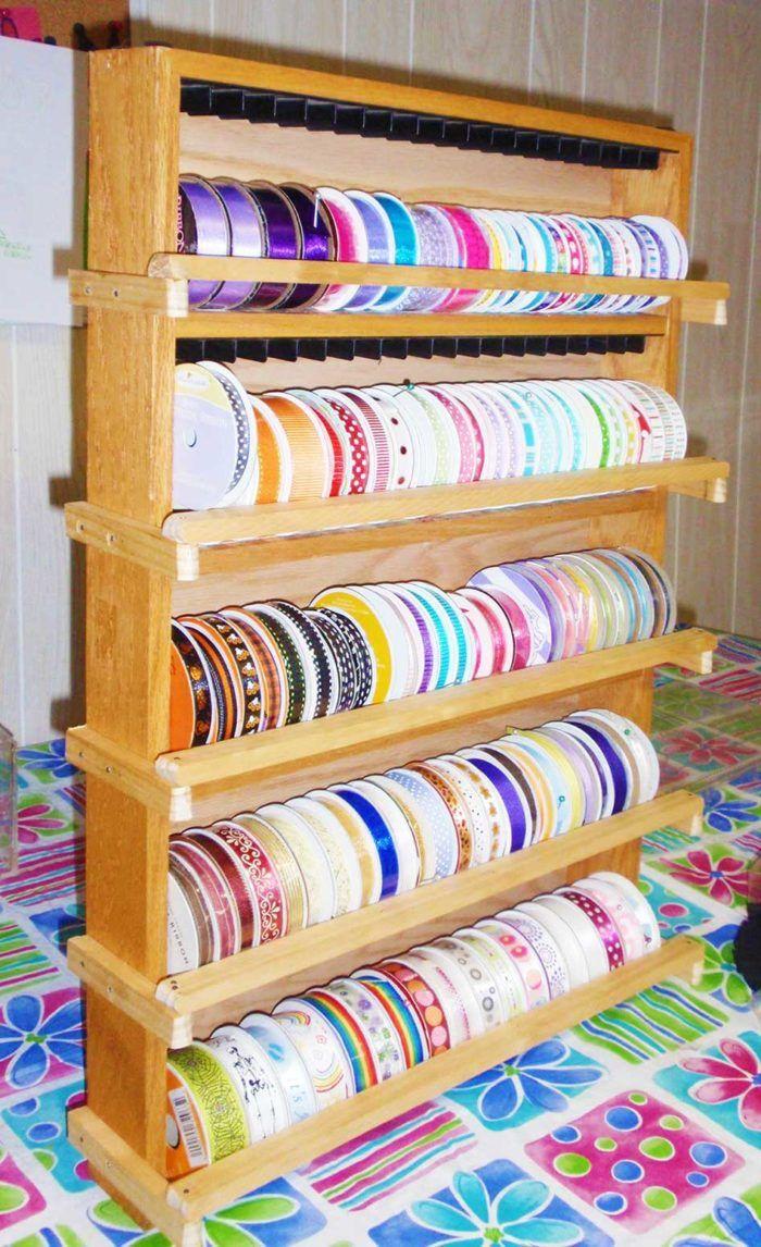 Diy Ribbon Storage Organizers Racks Shelves Ribbon Storage