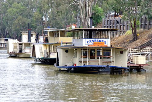 Victoria Echuca Murray River Rivers Trade Paddle-Wheelers Paddle-Steamers River-Boats