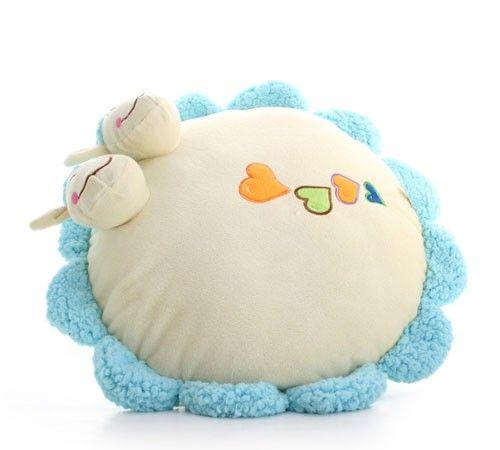 Lovely Sun Flower Soft Plush Cushion with Two Cute Cows on the Headat EVToys.com