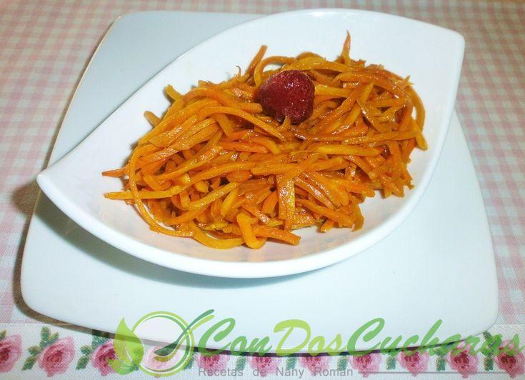 ConDosCucharas.com Zanahorias caramelizadas al balsámico de frambuesas - ConDosCucharas.com
