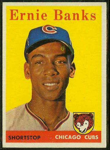 1958 Topps Baseball Cards | 1958 Topps #310 Ernie Banks [#a] (Cubs) Baseball cards value