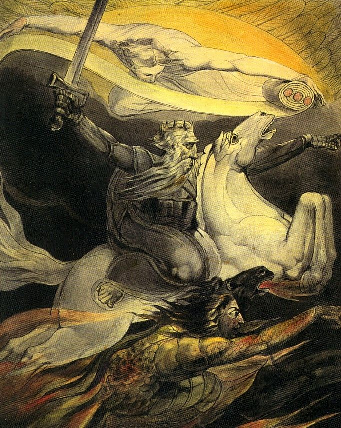 """Death on a Pale Horse"" by William Blake Putting his art in with Classic Books because it is integral to his writing...love it!!!"