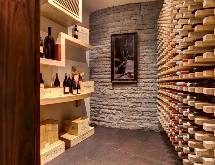 Home Wine Cellar Design Ideas View In Gallery Wine Cellar With Compact  Seating Area That Comes