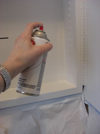 Repaint inside of medicine cabinet