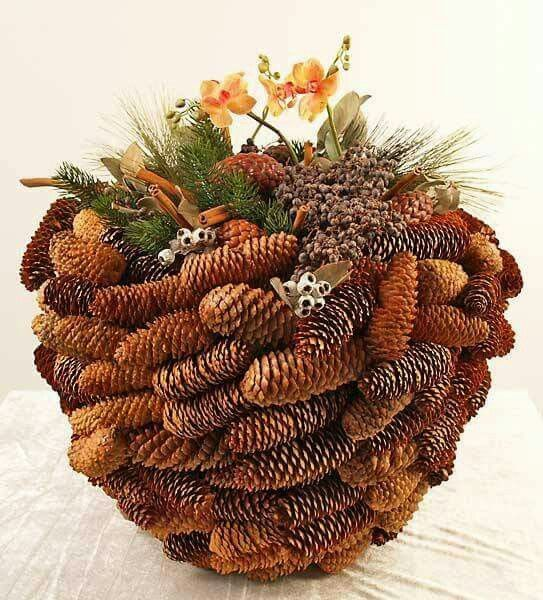 Pine cone planter. Only picture