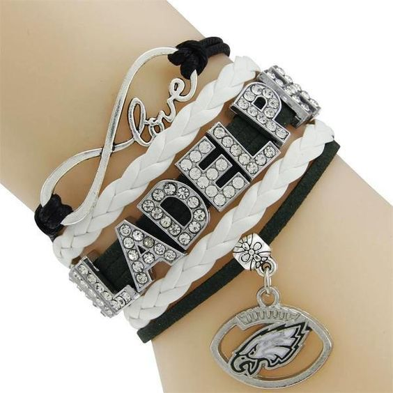 NFL Philadelphia Eagles Multi-Strand Friendship Infinity Charm Bracele – Best Funny Store