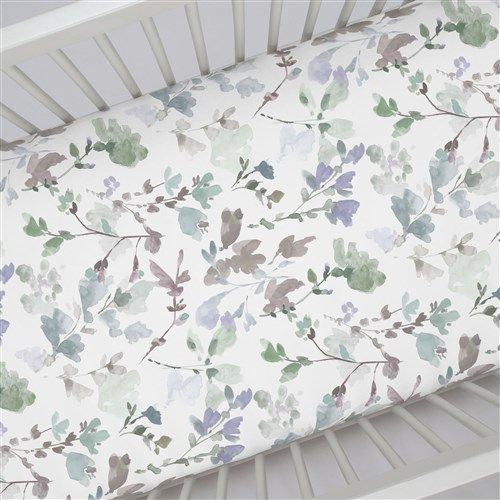 "Crib Fitted Sheet in and Soft Wildflower by Carousel Designs.  Our fitted crib sheets feature deep pockets and have elastic all the way around the edges to hug mattresses securely. Fits standard crib mattresses, measuring approximately 28"" x 52""."