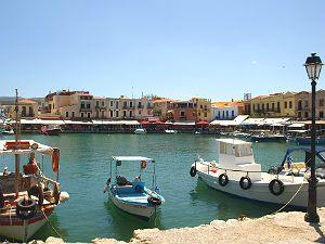 Venetiaanse haven van Rethymnon op Kreta - bewri