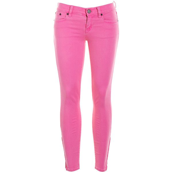 Pre-owned Women's J.Crew Pink Jeans (£12) ❤ liked on Polyvore featuring jeans, pants, bottoms, pink, pink jeans, j.crew e j crew jeans