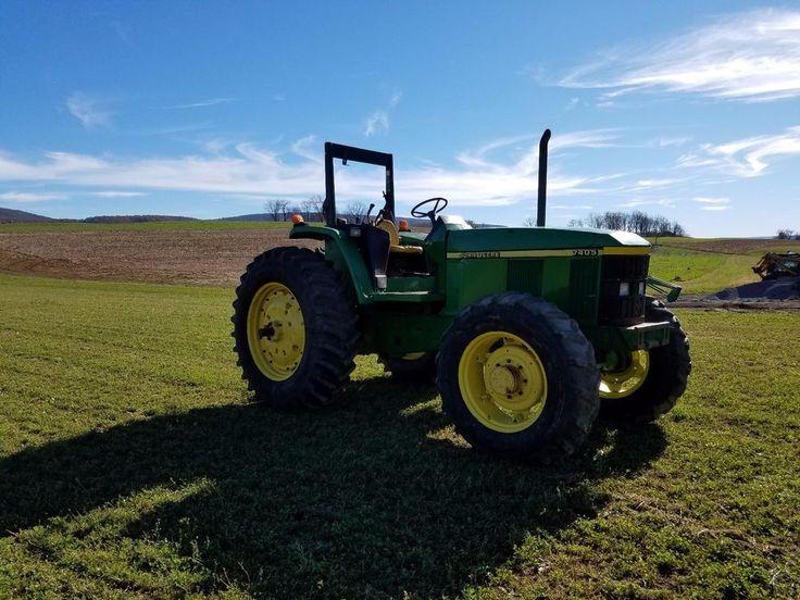 1998 John Deere 7405 Ag Utility Farm Tractor Diesel Engine 4x4 Machinery 105 HP