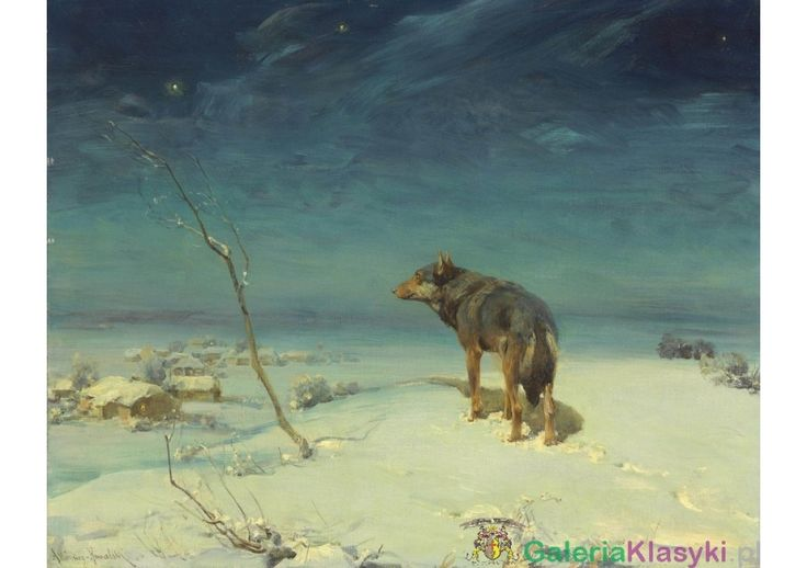 Samotny wilk - Alfred Wierusz-Kowalski