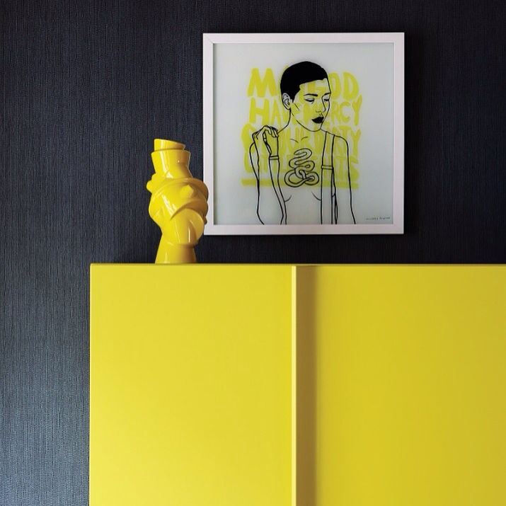 Simple, bright, effective. A snapshot from one of our projects as featured in @houseandleisure magazine. #definingyourspace #art