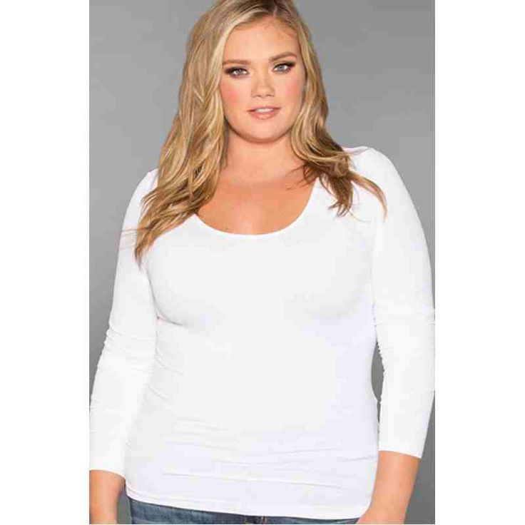PRE-ORDER - Perfect Long Sleeve Camisole (White) $28.00 http://www.curvyclothing.com.au/index.php?route=product/product&path=95_98&product_id=7401