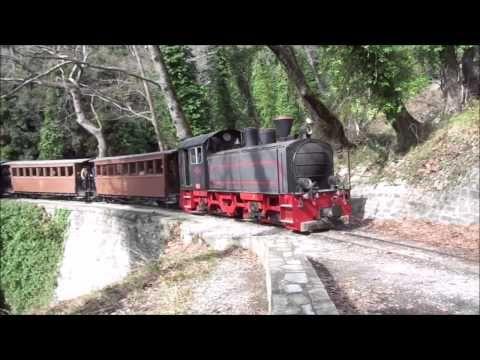 Το τραινάκι του Πηλίου (Μουντζούρης) Μηλιές - Old train at Milies, Pelion