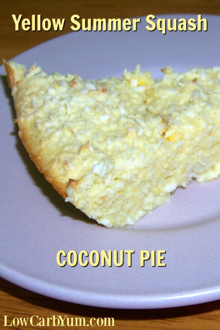 The coconut in this coconut summer squash pie really adds a great flavor to the dessert. It's a nice treat to make when you have a garden full of yellow summer squash.