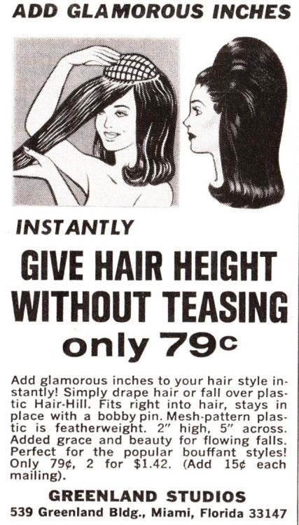 "Vintage ""Hair-Hill"" Advertisement ~ I would buy and wear this right now."