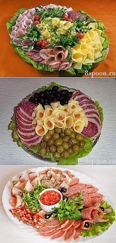 Красивая мясная нарезка: идеи, фото, примеры оформления и подачи | 8 Ложек