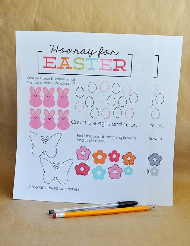 Printable Easter Worksheet  - print and have kids fill in! | Thirty Handmade Days: Printable Easter, Worksheets Printable, Kids Fillings, Easter Worksheets, Easter Spr, Simple Printable, Easter Kids, Easter Brunch, Easter Ideas