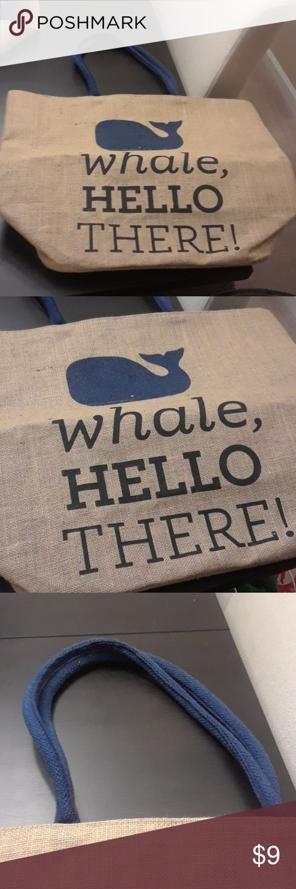 Brand new oversized beach bag Brand new oversized beach bag with whale design, approximately 21 inches wide, 18 inches tall Bags Totes