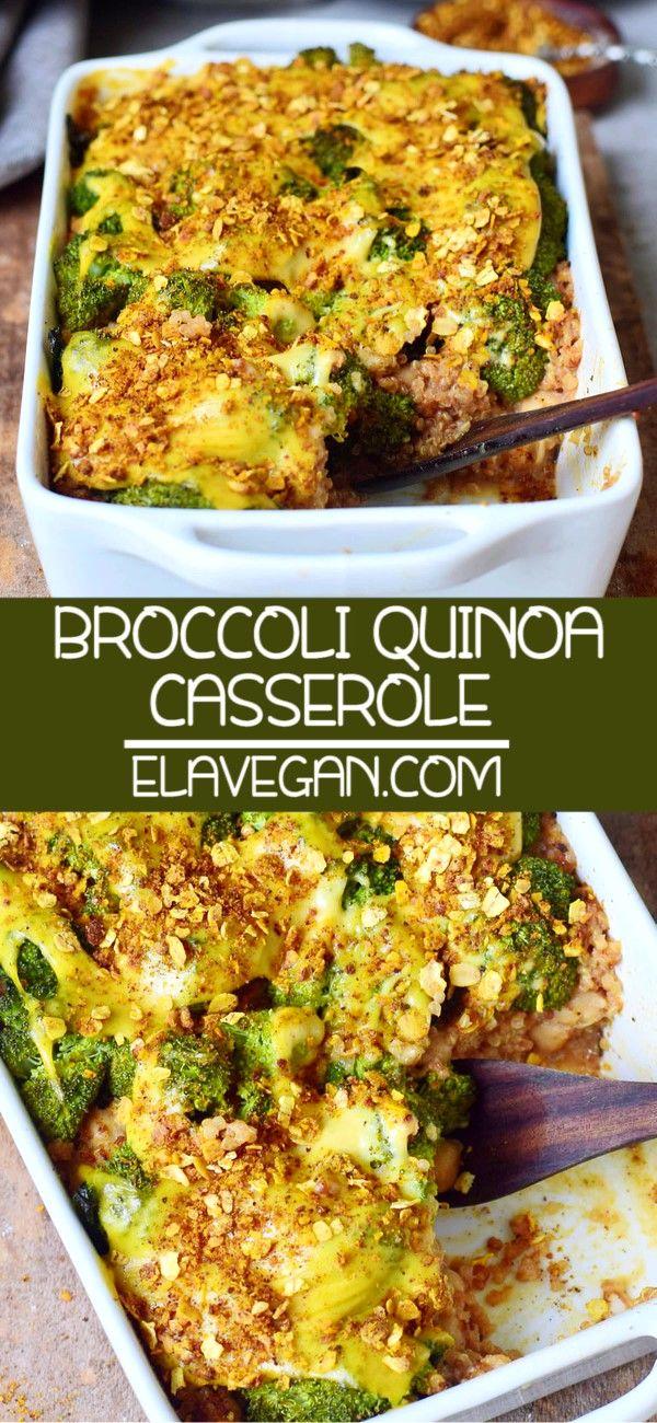 Casserole de brocoli et de quinoa facile (gratin)