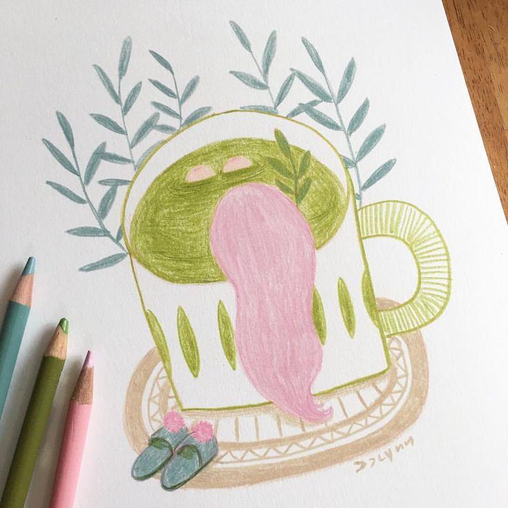 Weekend mood=relax☺️ 주말인데 하늘이 흐릿흐릿! 오늘은 몸담금모드 ㅋㅋㅋ . . . #weekend #sketch #doodle #drawing #dailydrawing #sketchbook #illustration #illustagram #relax #jjlynndesign #hottub #일러스트 #그림 #드로잉 #스케치 #낙서 #데일리드로잉 #스케치북 #colorpencil #색연필 #주말 #제이제이린 #두들