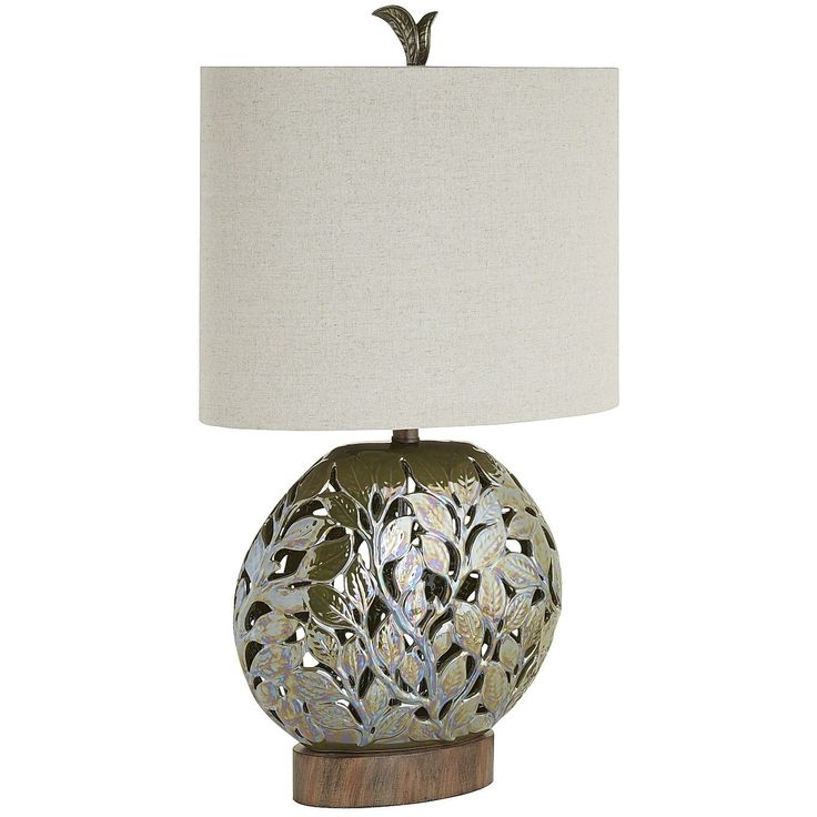 Green Lucia Table Lamp   Ceramic