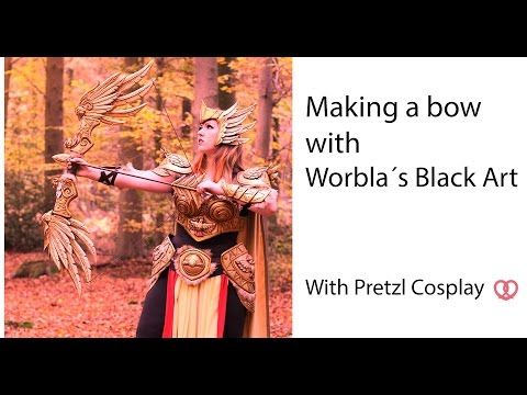 (5) Cosplay tutorial: Making a bow for Pokemon Pidgeot with Black Worbla - YouTube