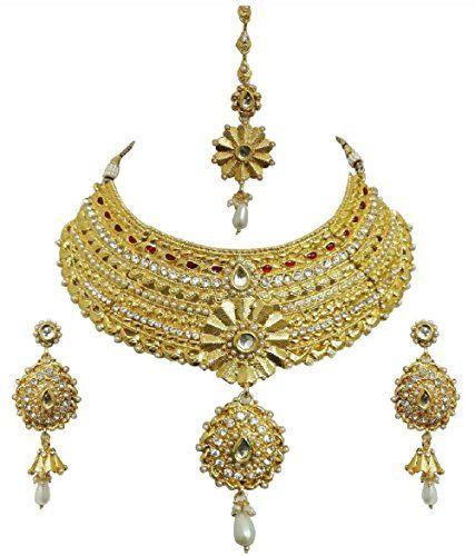 Dazzling Indian Red Stone Gold Plated Bridal Wedding & Pa... https://www.amazon.com/dp/B06X1875CX/ref=cm_sw_r_pi_dp_x_0GaRybS3ENFGF