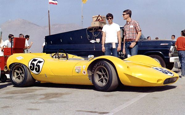 1967 Shelby King Cobra. It's not possible but the guy on the right looks suspiciously like Michael Schumacher