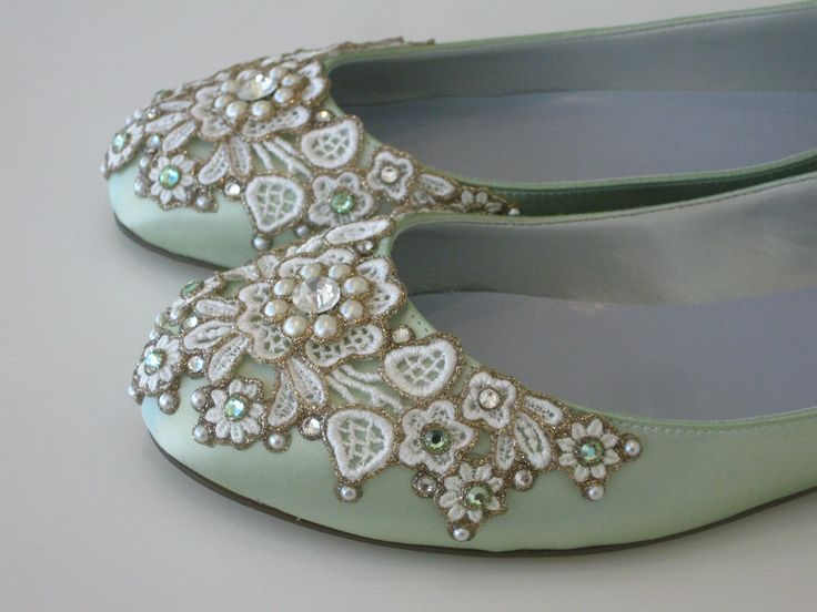 Absolutely love these shoes!: Spring Gardens, Bridal Ballet, Mint Green, Ballet Flats Wedding, Bridesmaid Shoes, Gardens Bridal, Wedding Flats, Bridal Shoes, Flats Wedding Shoes