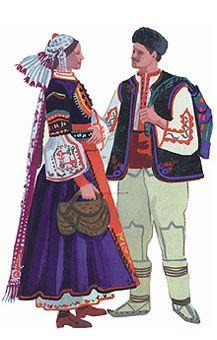 festive costume bride and masculine garb of Samokovsko.