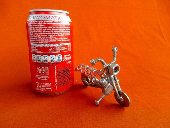 moto in acciaio inox misure  lunghezza 10cm di stevieacciaio