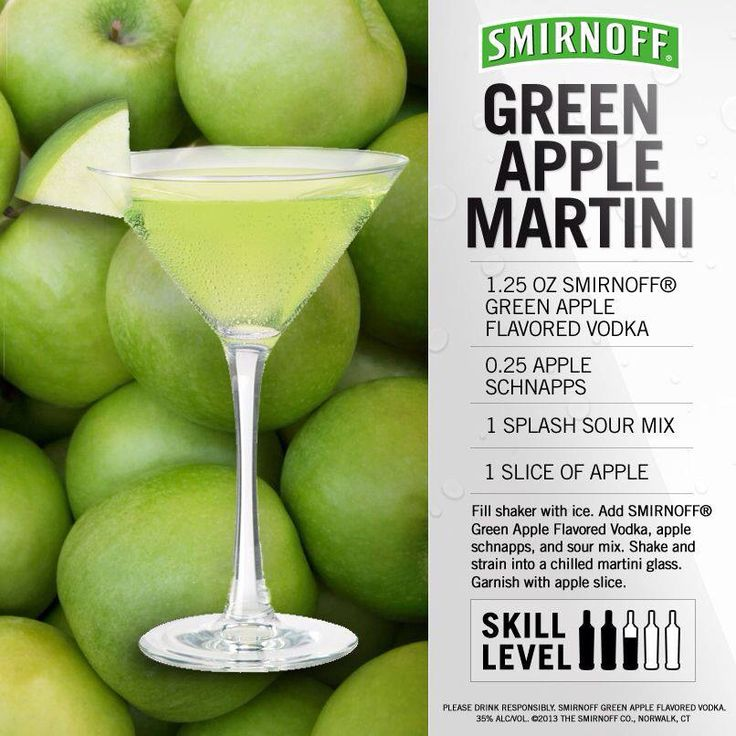 Yummy Smirnoff Green Appletini @Cassie Shanks @Rebecca Basaleh makin this Saturday!! I already got the vodka :)