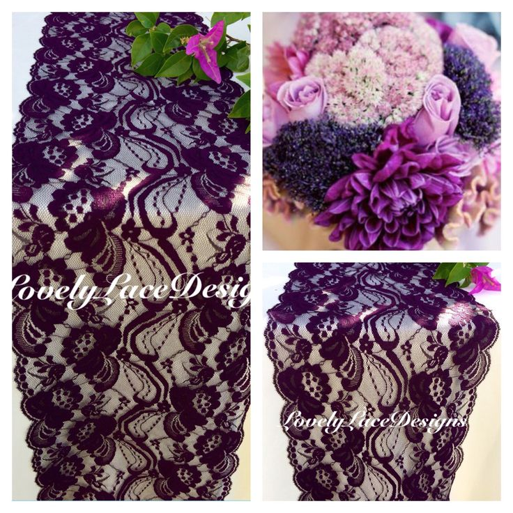 """PLUM WEDDINGS/Plum Lace Table Runner/3ft-10ft x 7"""" Wide/Wedding Decor/ Overlay/Tabletop Decor/Reception Decoration/Ends not sewn/Free Runner by LovelyLaceDesigns on Etsy https://www.etsy.com/listing/260494309/plum-weddingsplum-lace-table-runner3ft"""