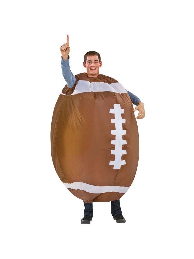 Aufblasbarer Football Kostüm für Erwachsene: Dieses Football-Kostüm (nur Overall ist im Lieferumfang enthalten) ist für Erwachsene geeignet und stellt einen amerikanischen Football dar. Es besteht aus einem aufblasbaren Overall in...