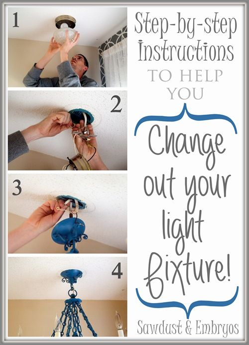 Step by Step Instructions to help you Change out your light fixture.