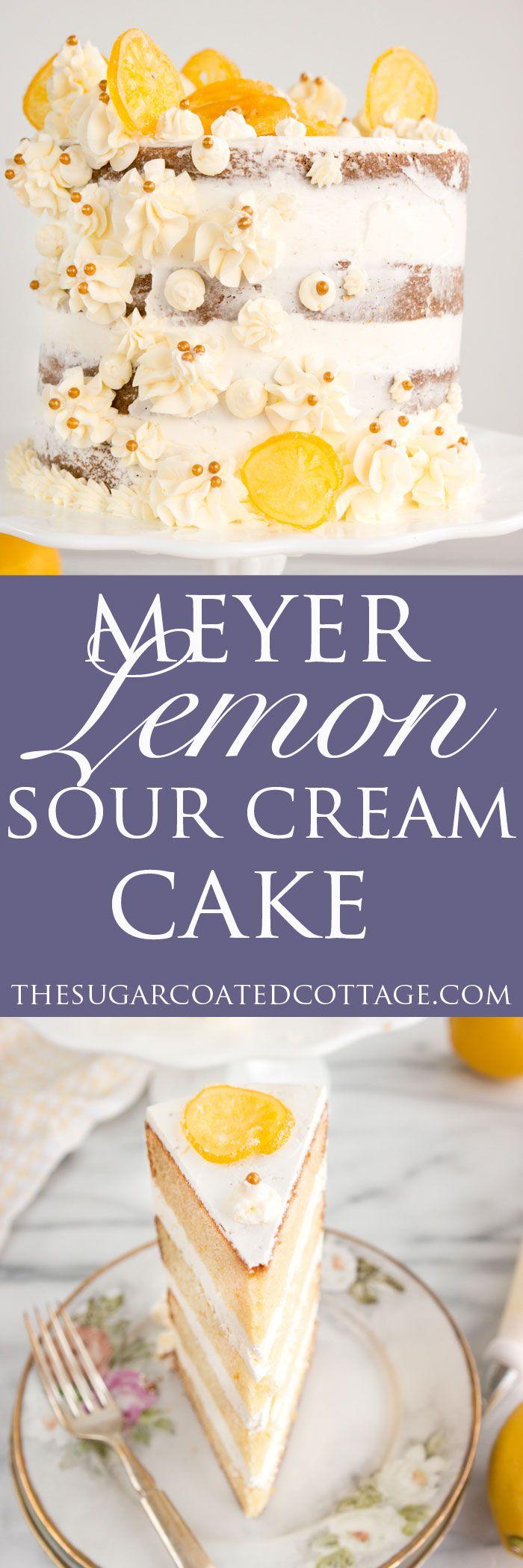 Meyer Lemon Sour Cream Cake