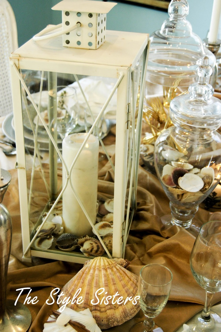 The Style Sisters CENTERPIECE WEDNESDAY UNDER DA SEA Ocean CenterpiecesDining Table