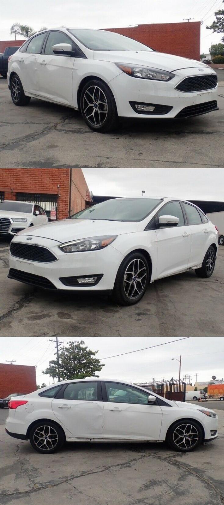 Light Damage 2017 Ford Focus Sel Repairable Cars For Sale Ford Focus Sports Cars For Sale