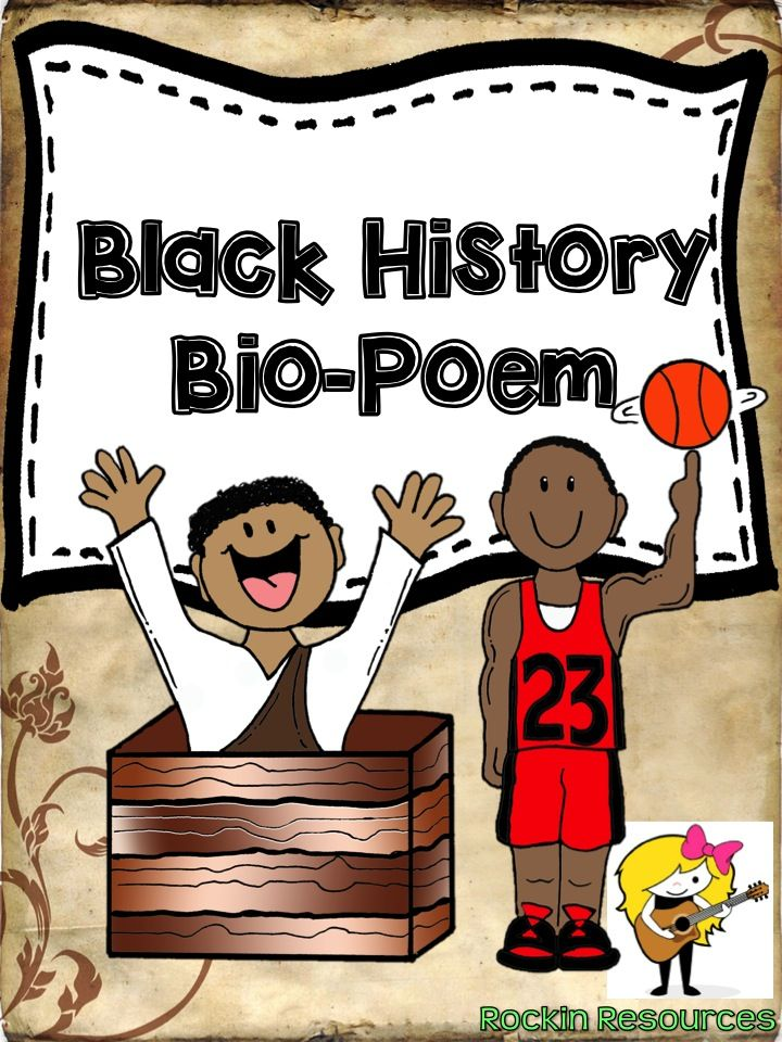 Free!     Updated: QR code!  Students will enjoy browsing the website given and selecting a person from our Black History. Once selected, they are to read about that person and fill in the biopoem template. There is a frame provided for an illustration. There is also a teaching template to put on your smart board for directions! Enjoy learning about our black history!: