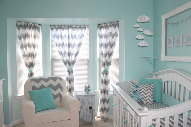 Chevron, aqua, and gray  Love these colors together