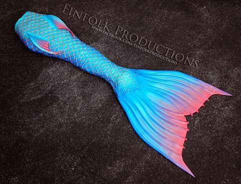 Swimmable, full silicone, prosthetic mermaid tail. Custom orders only
