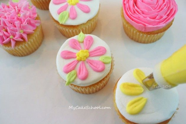 nice tutorial for different cupcake designs