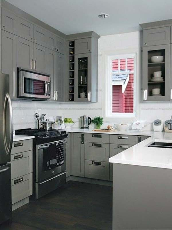 The 25 best u shaped kitchen ideas on pinterest Small square kitchen designs