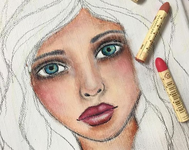 SENNELIER OIL PASTELS PORTRAIT PAINTING – NIKA IN WONDERLAND Mixed Media Art Tutorials