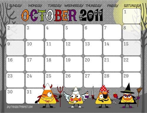 October Calendar Kindergarten : Best images about kids calendar and weather on