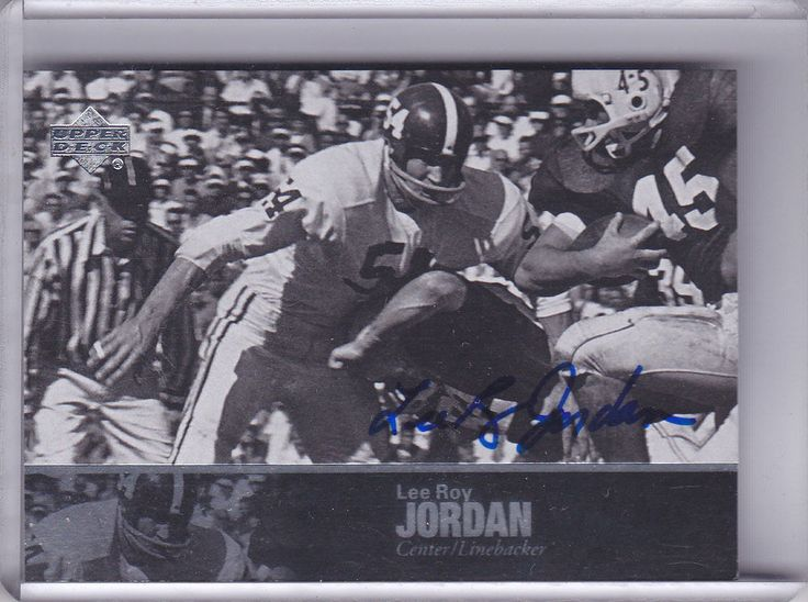 LEE ROY JORDAN 2011 UPPER DECK LEGENDS AUTOGRAPH #24