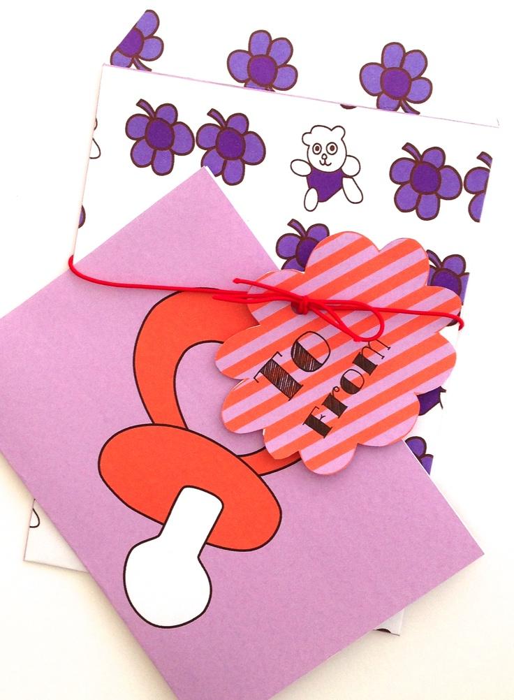 Cute baby card.